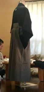 男性の第一礼装・紋付袴。この上に羽織を羽織ります