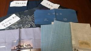 大島紬、ちりめん・・・着物や帯の組織、素材を実際のサンプルも見ながら学びます